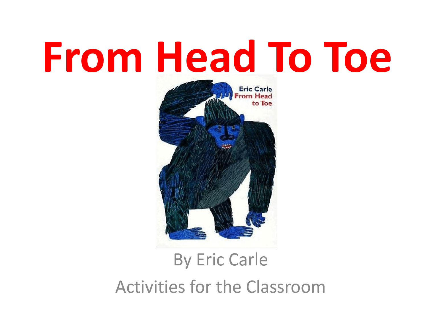Document From Head To Toe Story Activities
