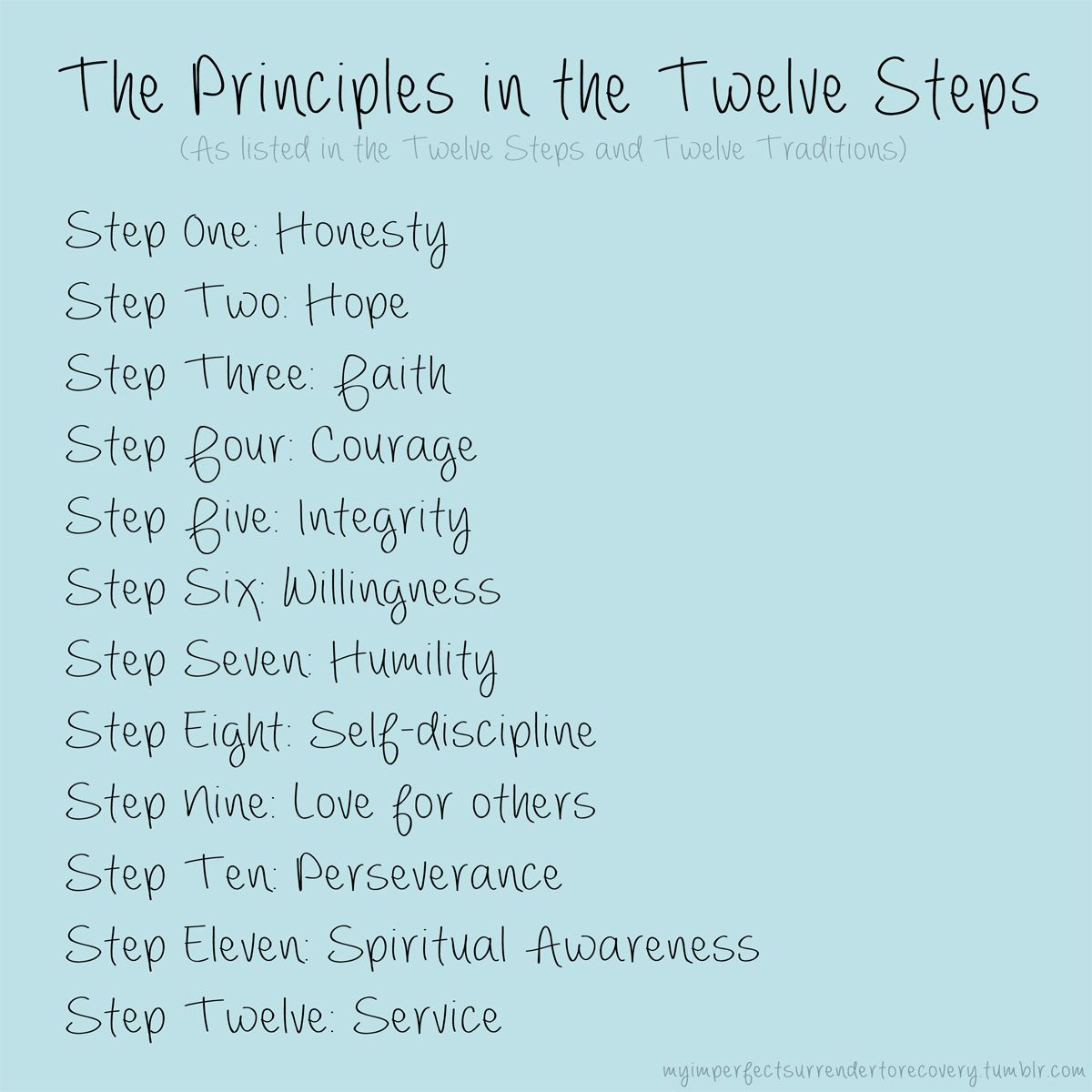 The Principles In The Twelve Steps Aa Oa Na Sa Fa