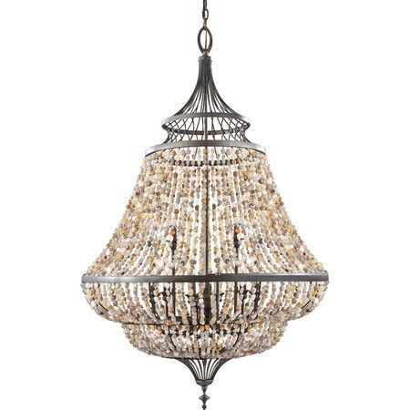 Martha Chandelier In Rustic Iron