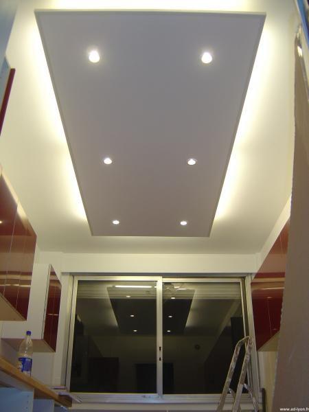 Plafond Avec Spot Eclairage Led Plafonds Clair S