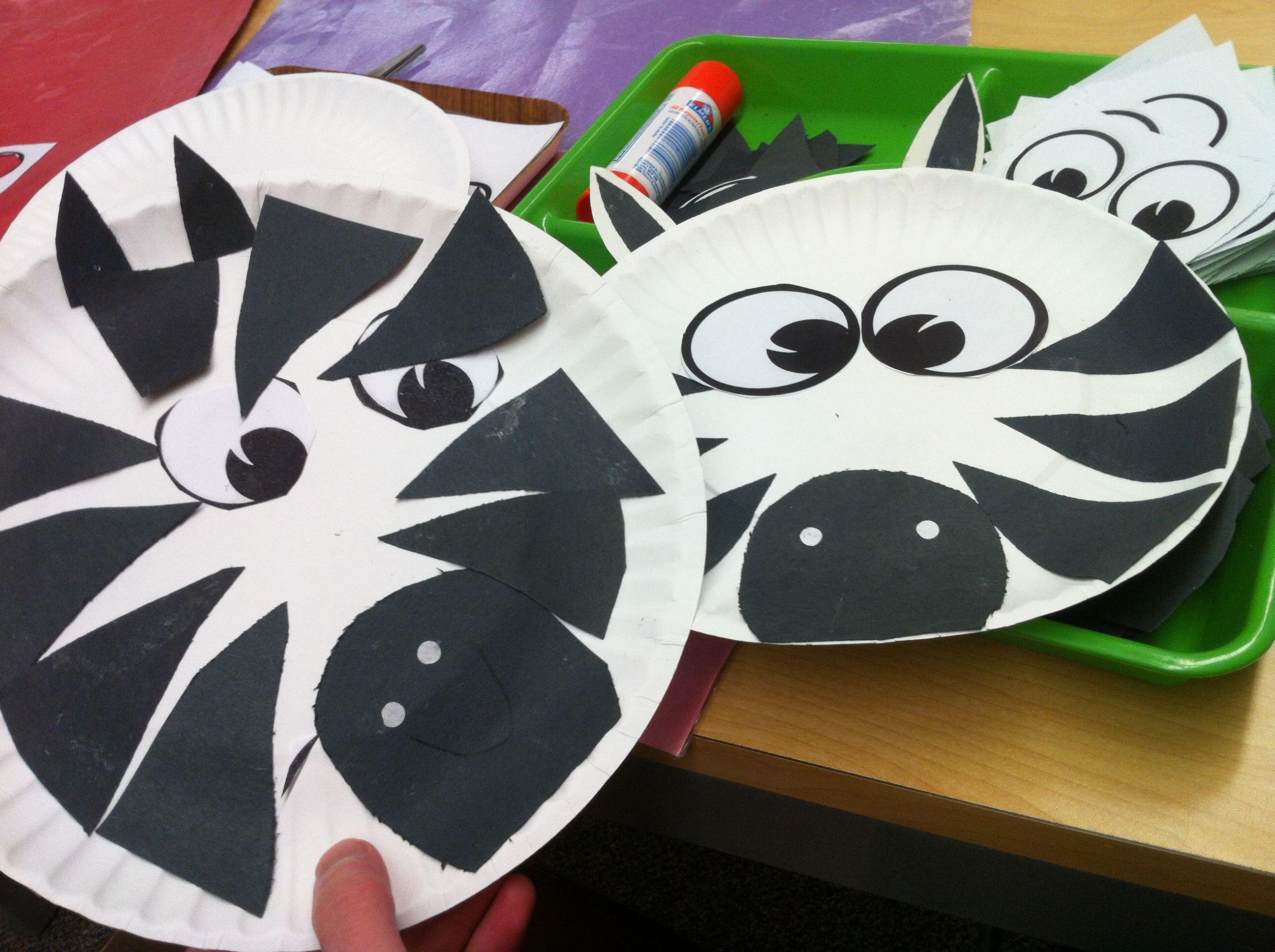 Zebra Craft For My Montessori Kindergarten Preschool Kids With Paper Plate And Blak Construction