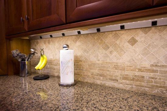 Angle Power Strip Under Kitchen Cabinet Hidden