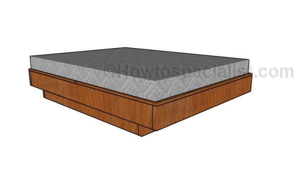Floating Queen Size Platform Bed Plans