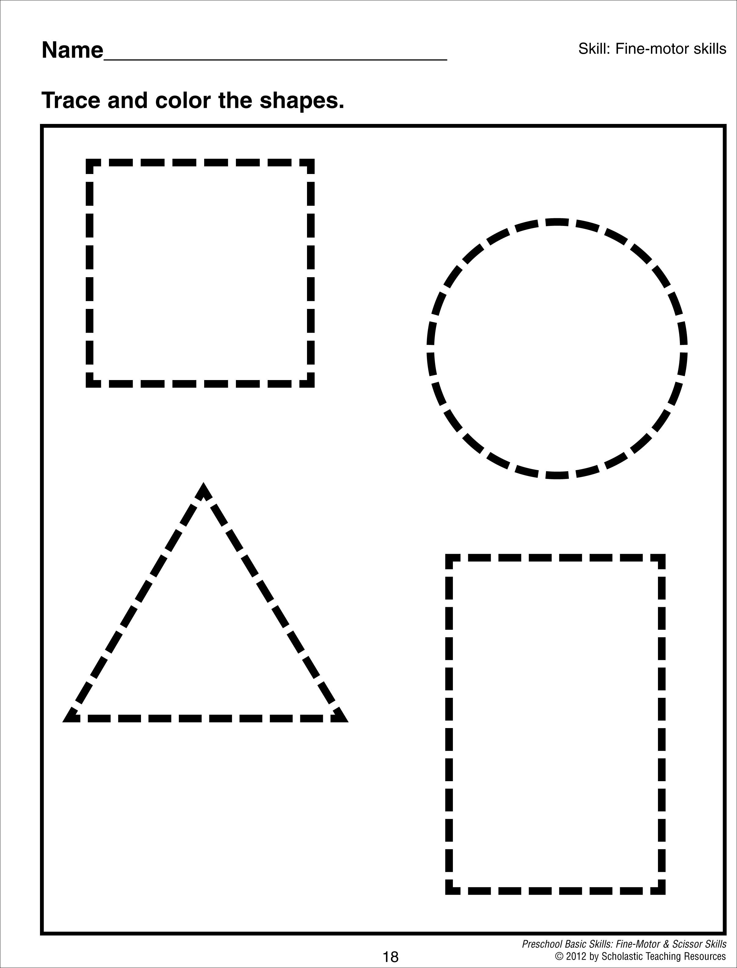 Trace Rectangle Colouring Pages Page 3