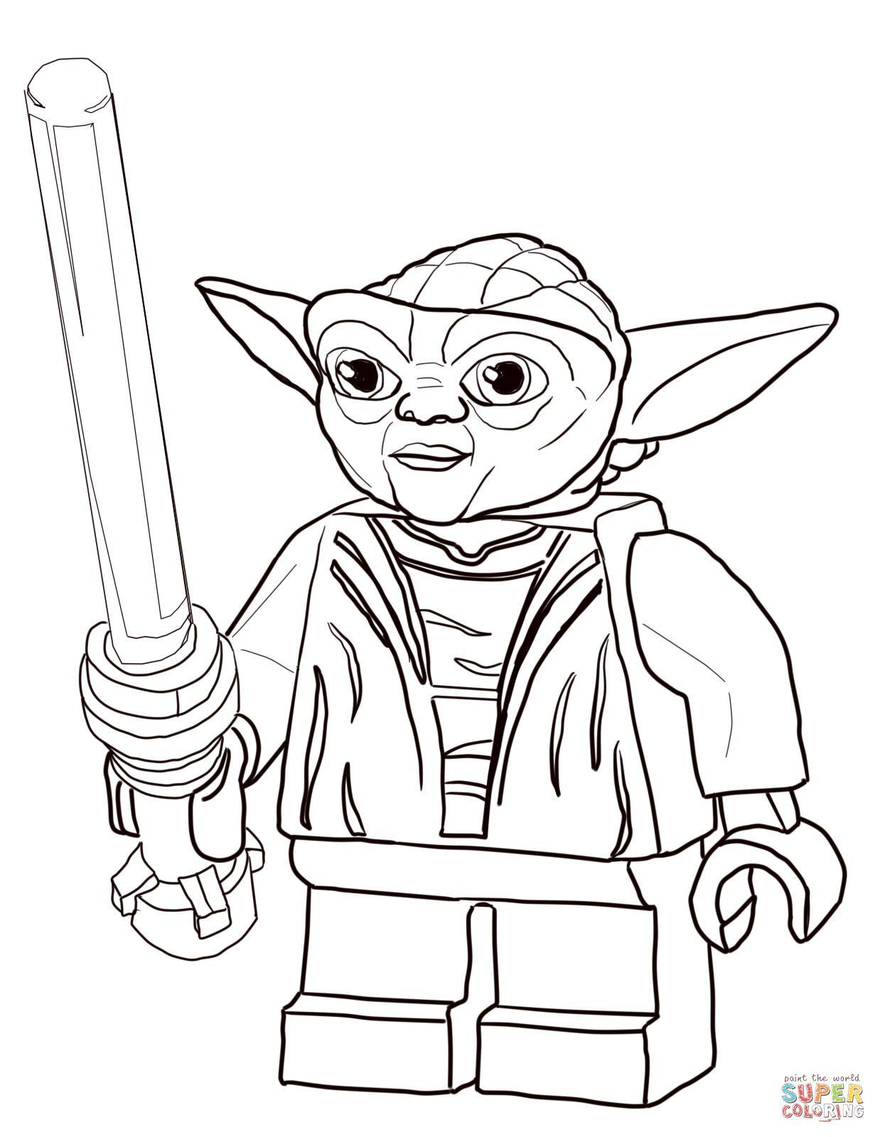 Lego Star Wars Master Yoda Coloring Page