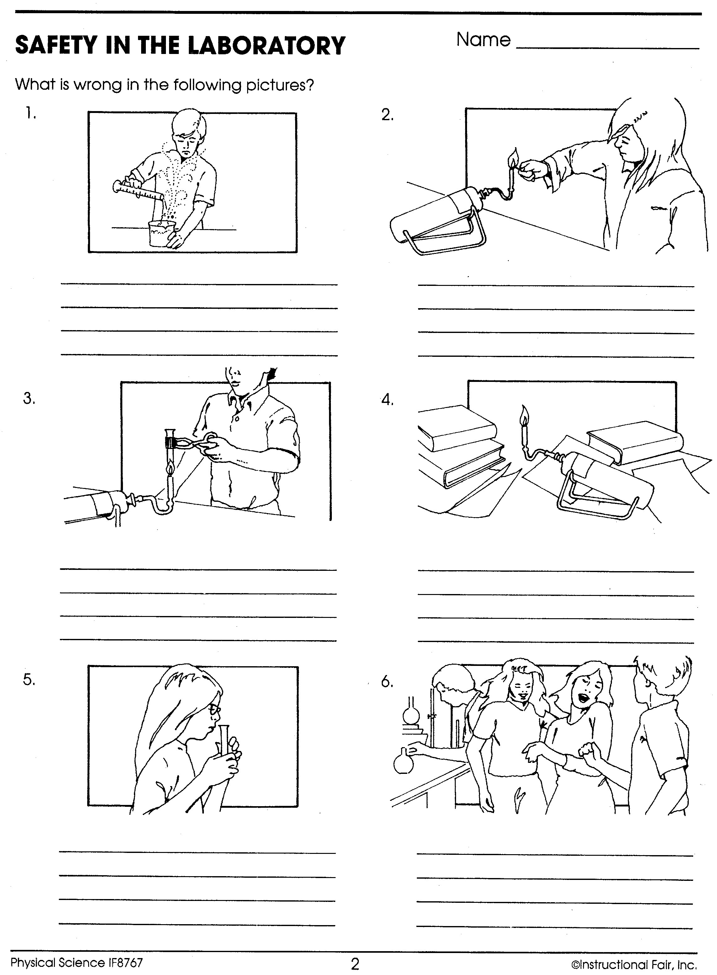 Science Lab Safety Activity