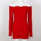 Accept preorder red off shoulder dress dress brands curves and