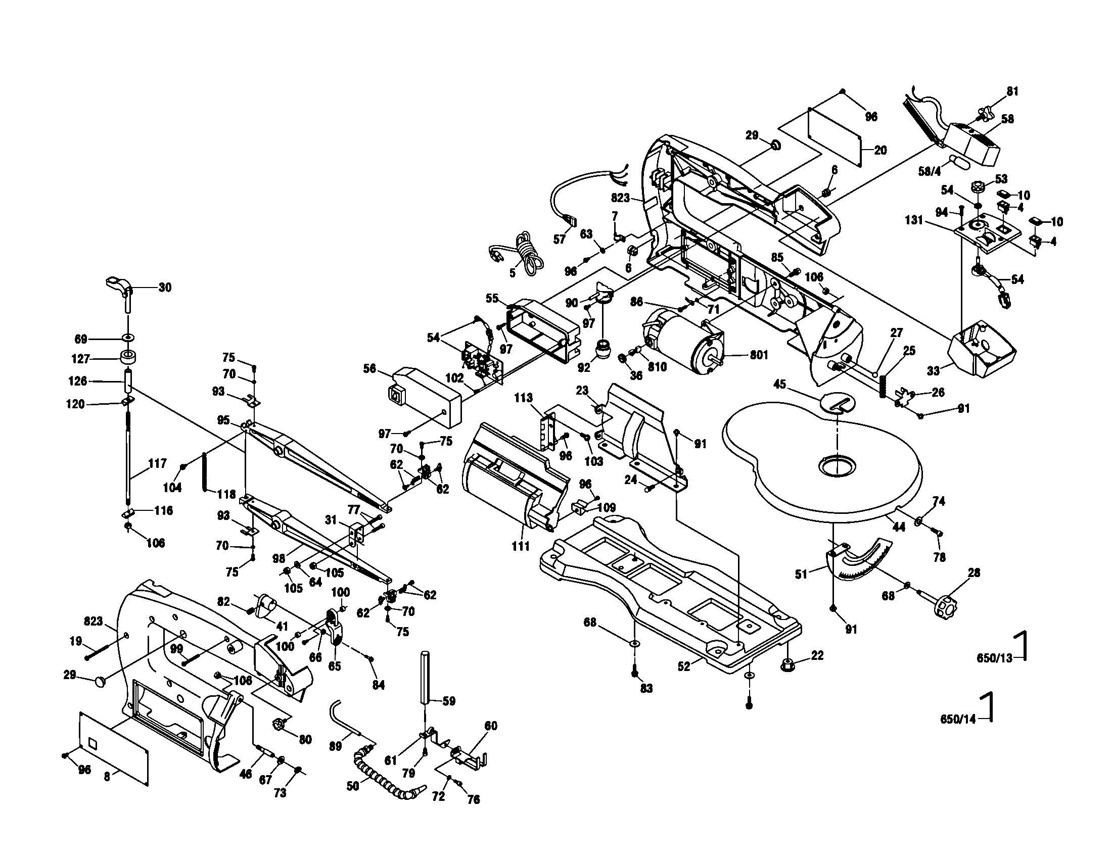 Scroll Saw Diagram Amp Parts List For Model Dremel