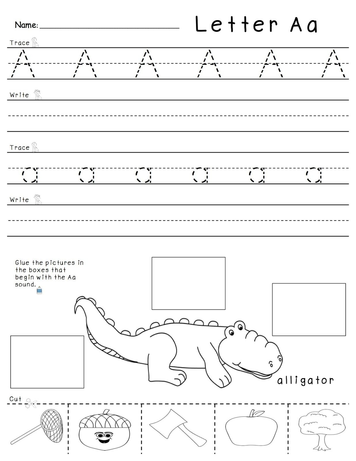 A Z Tracing Writing And Beginning Sounds Practice Students Practice All 3 Skills On One Page