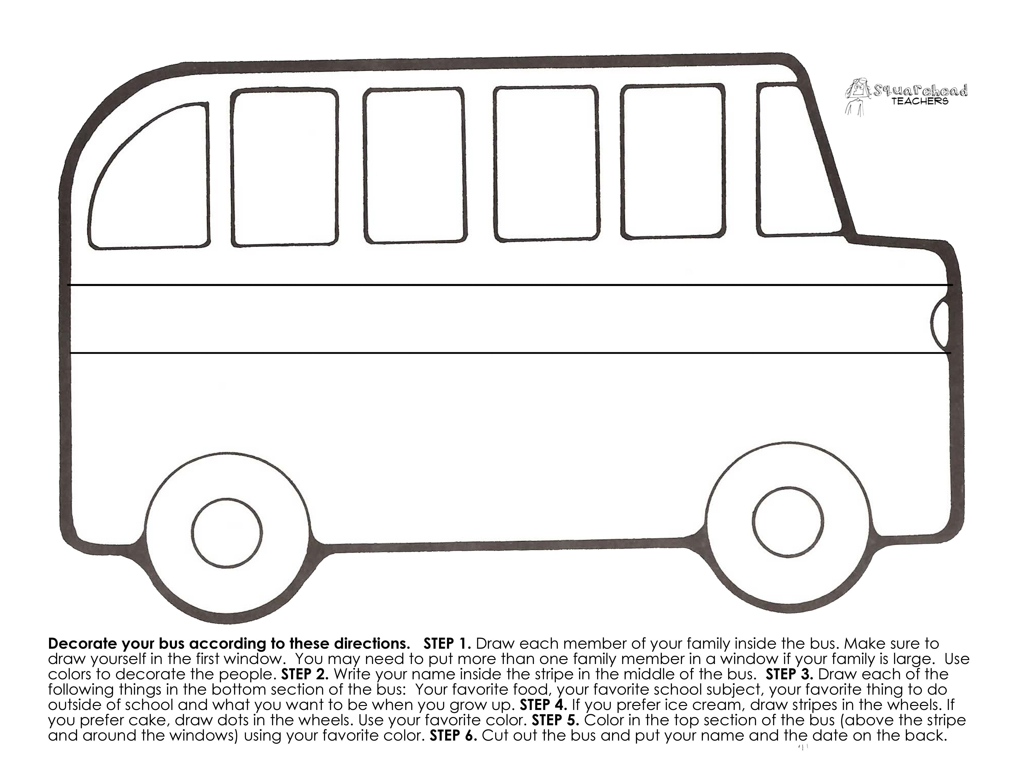 Printable Of A Bus