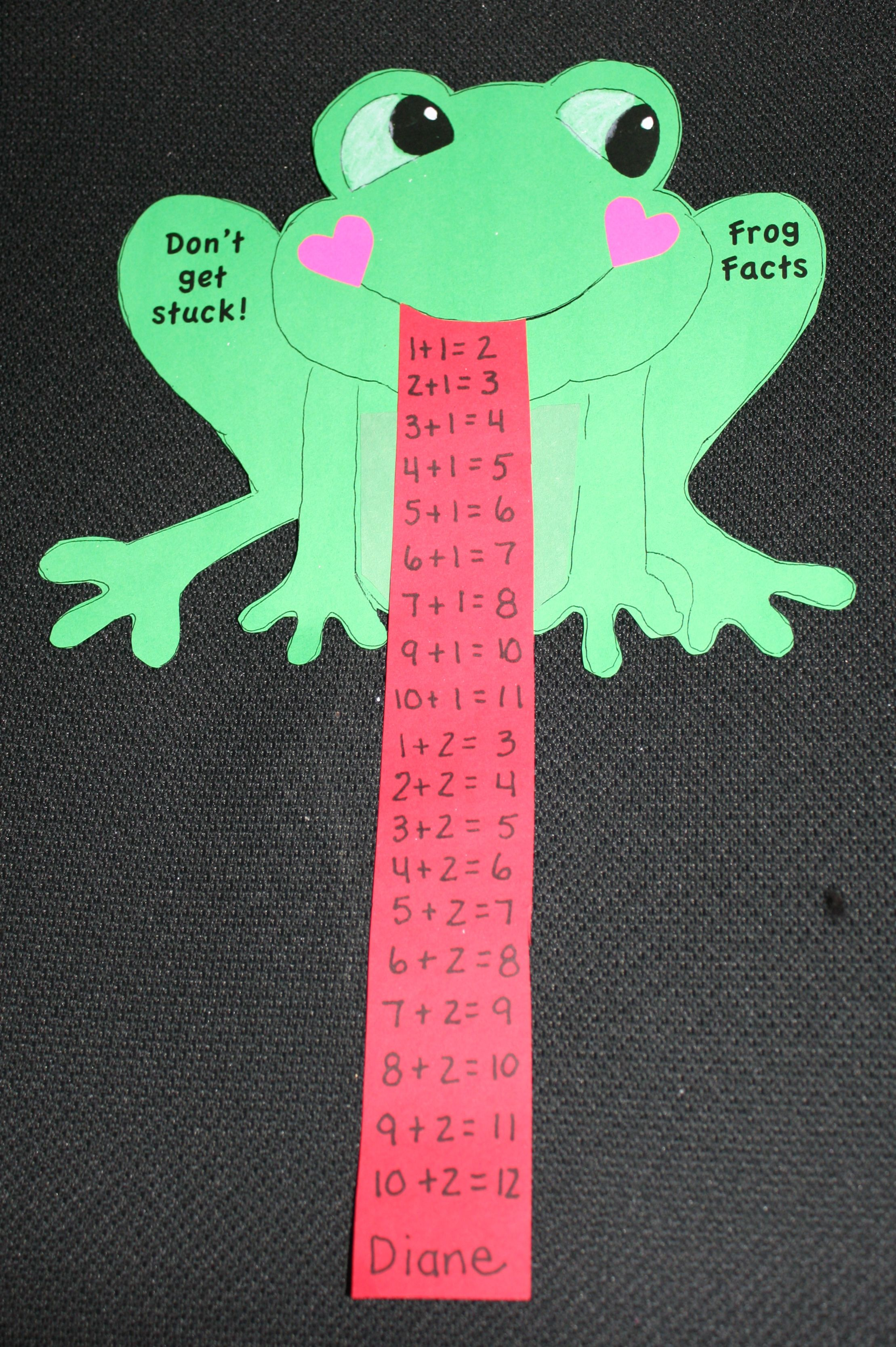 Math Facts On A Not So Sticky Frog Tongue Perfect For Leap Day Or Your Frog Theme Free