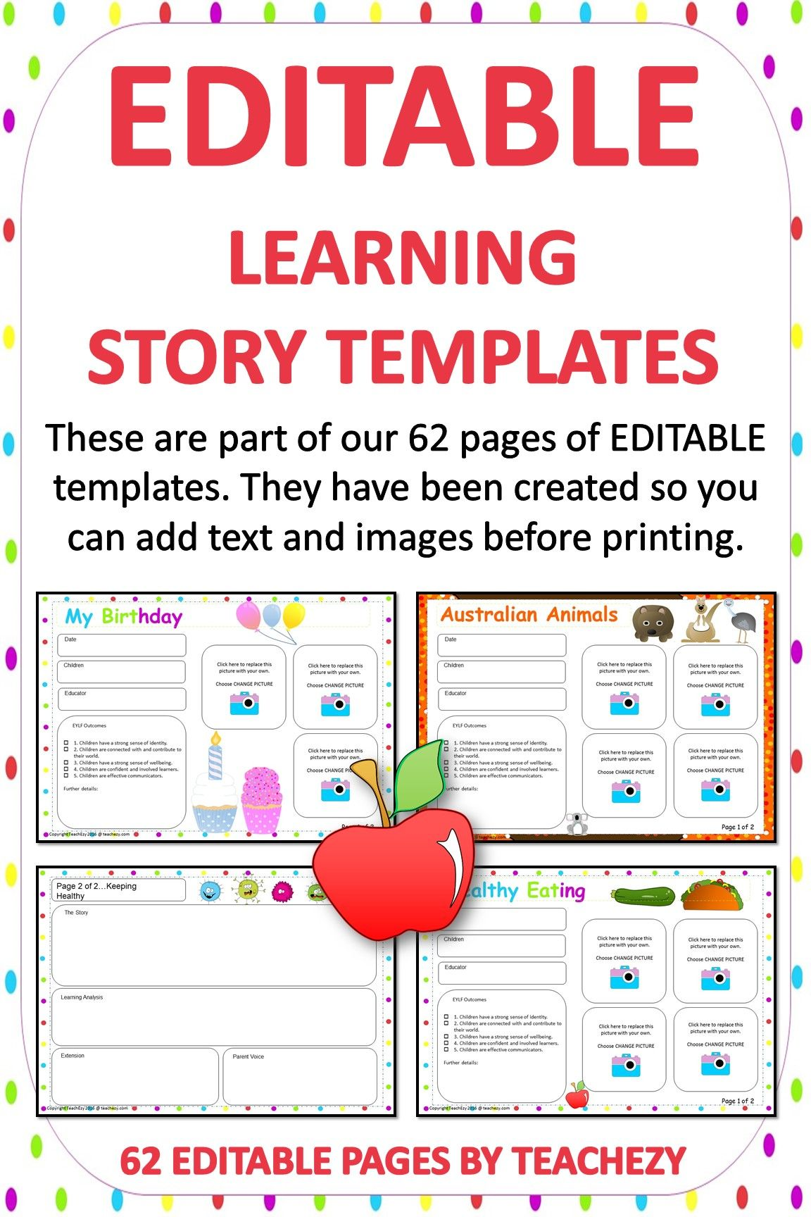 Editable Learning Story Templates Due To Popular Demand We Have Now Made Our Story Templates