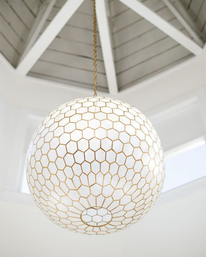 Capiz Honeycomb Chandelier Via Serena Lily