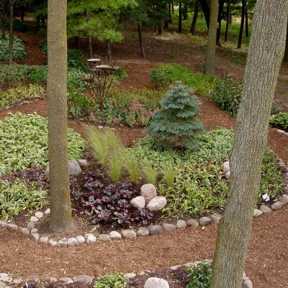 serene backyard - no grass, no mowing   Outdoor Spaces ... on Backyard Landscaping Ideas No Grass id=70905