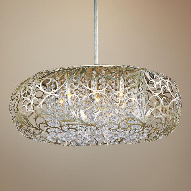 Maxim Arabesque 24 Wide Golden Silver Pendant Light