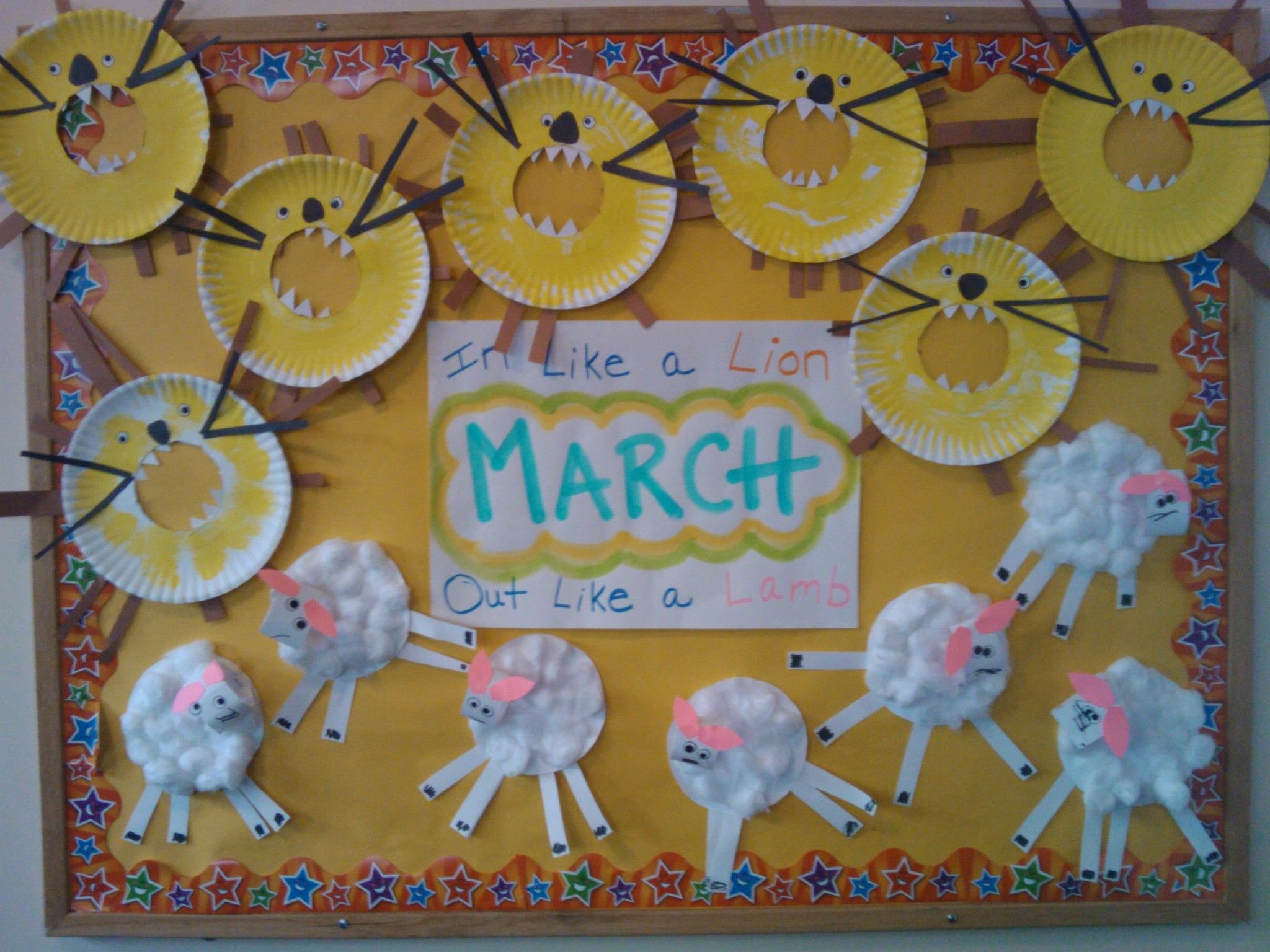 March Bulletin Board Like A Lion Out Like A Lamb Oh