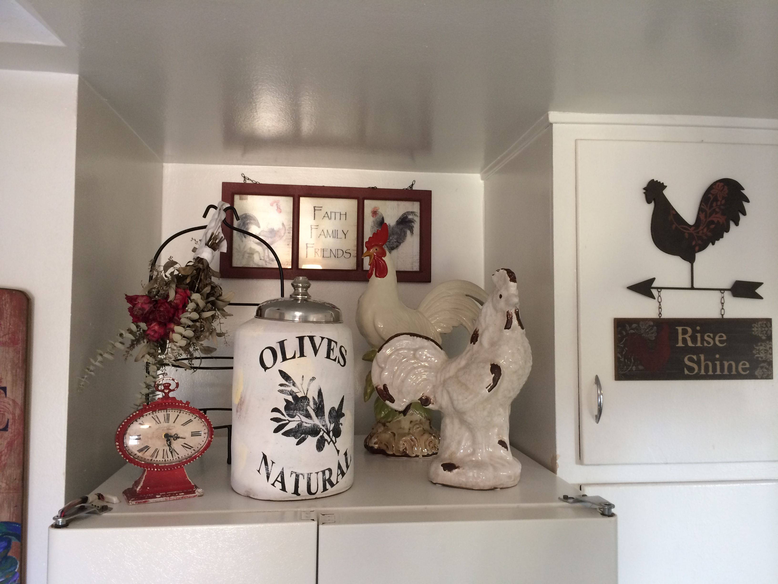 went with a rooster theme for kitchen since i already owned some rooster decor mi casa decor on kitchen ideas decoration themes id=68322