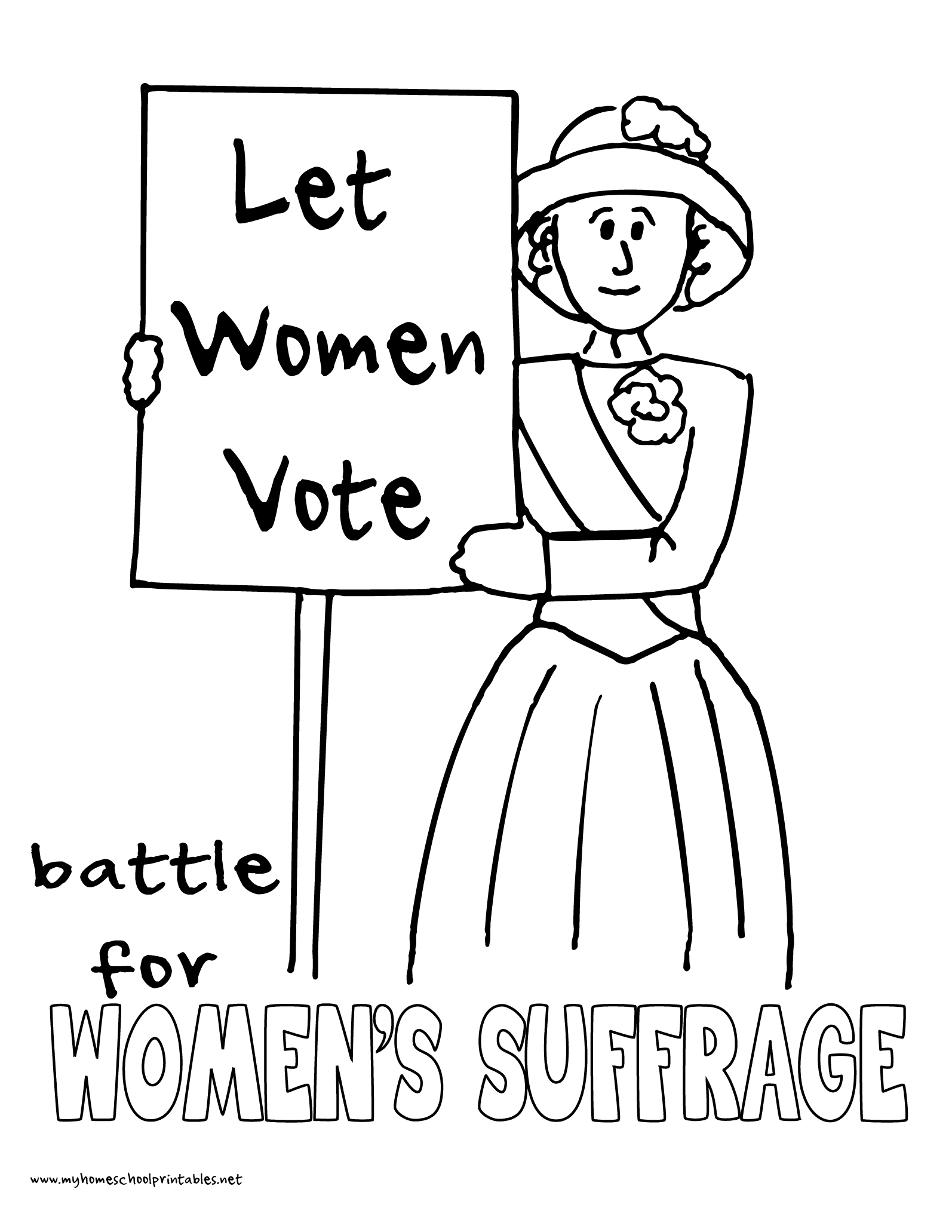 World History Coloring Pages Printables Women S Suffrage Protests