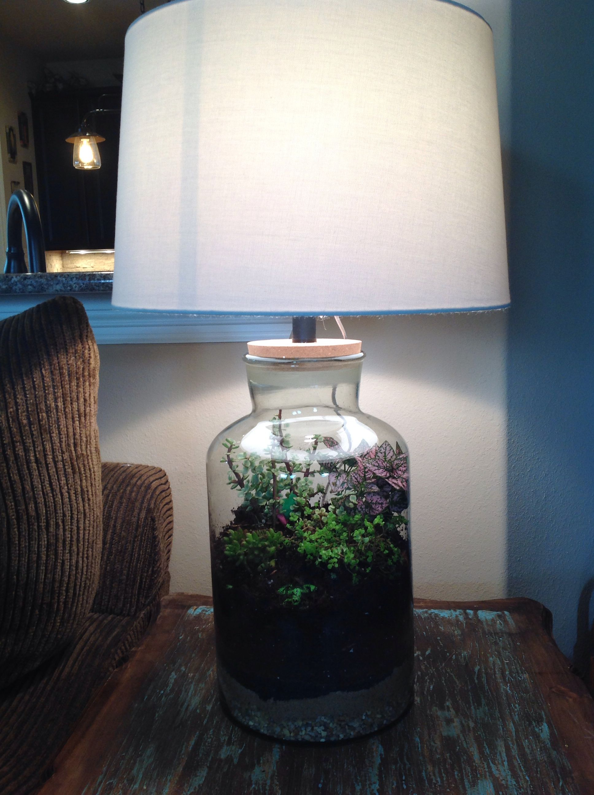 Fillable Lamp Terrarium Love It Just Finished Making Two