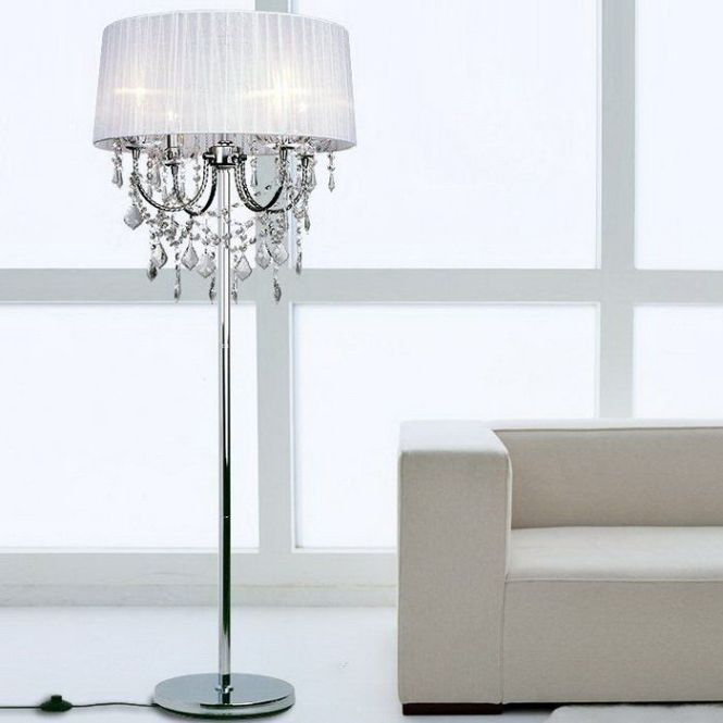 Modern Crystal Floor Lamp European Design Beautiful High Quality Reasonable Price Sample Order Is Available