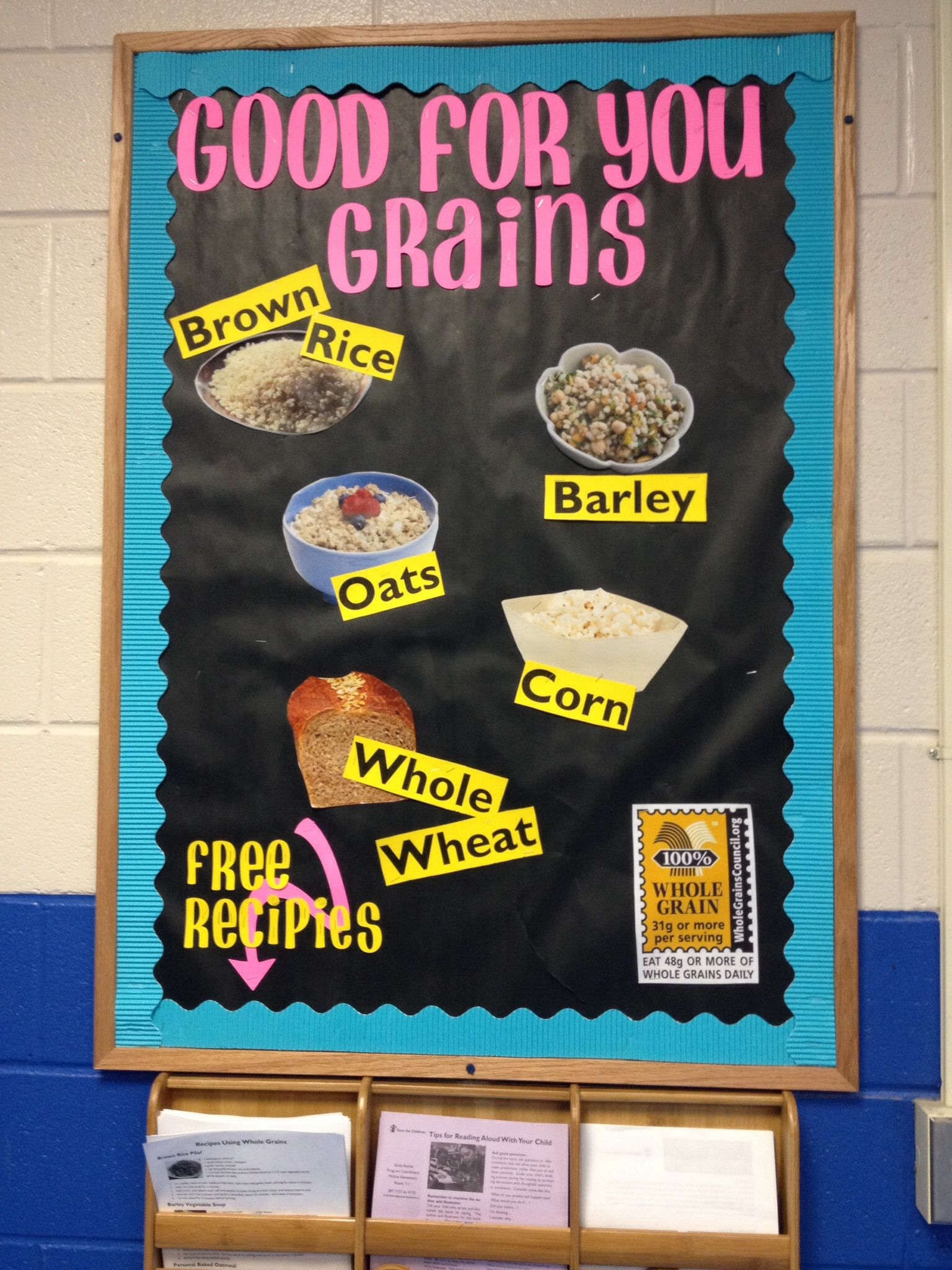 Good For You Grains Nutrition Bulletin Board About Whole