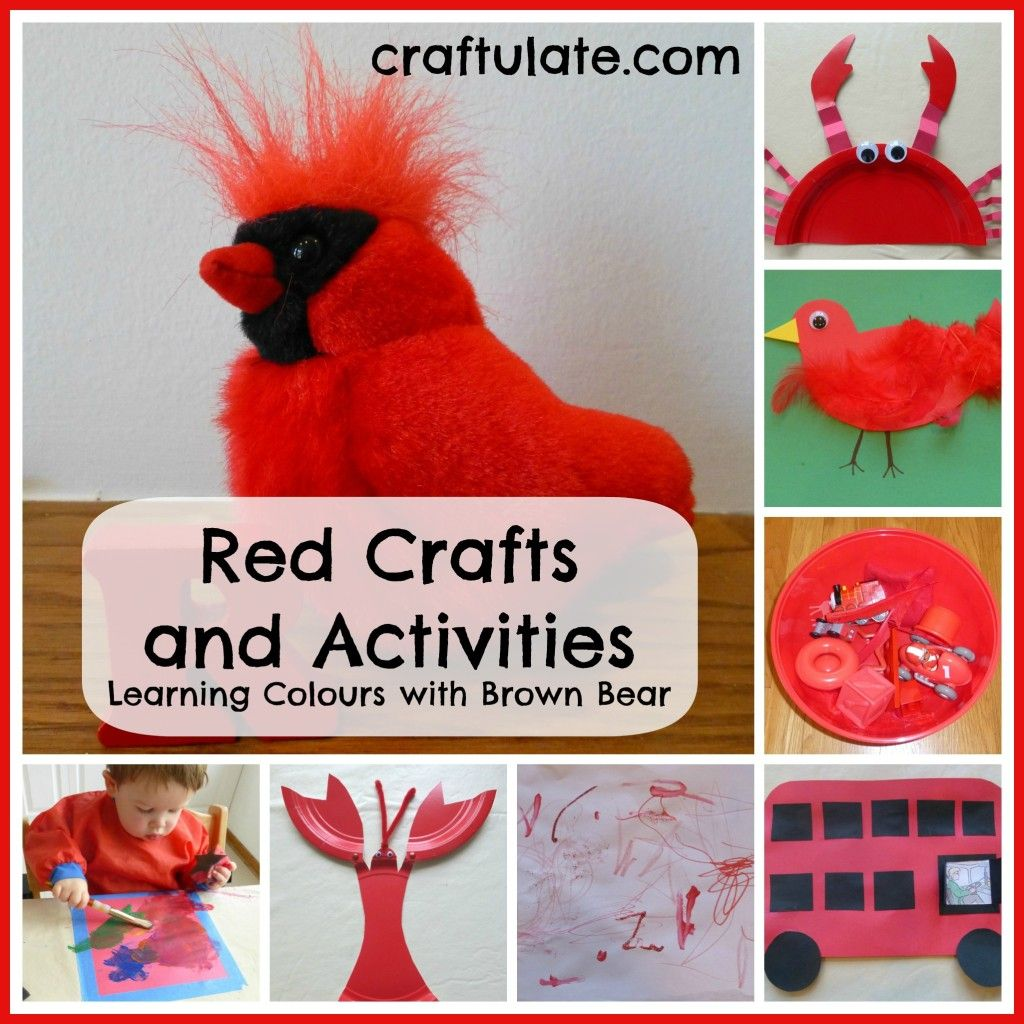 Red Crafts And Activities Learning Colours With Brown