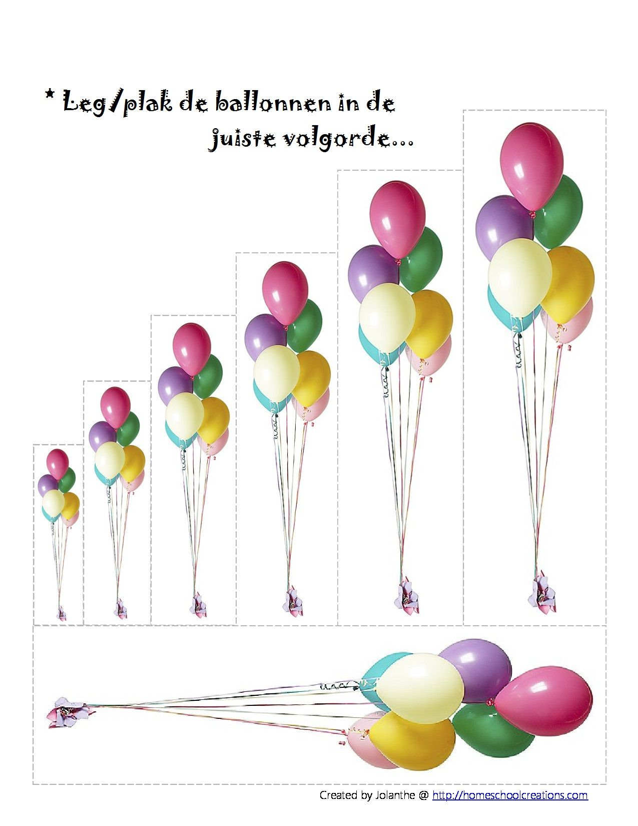 Leg Plak De Ballonnen In De Juiste Volgorde