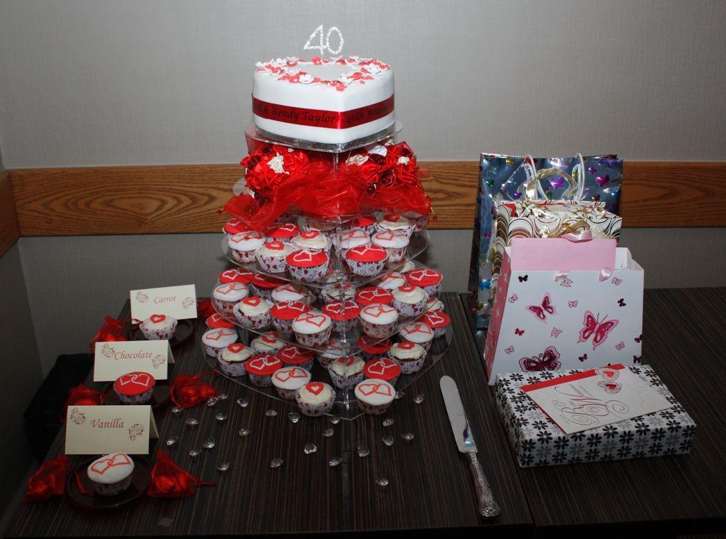 Cupcake Decorating Ideas Wedding Cake Red