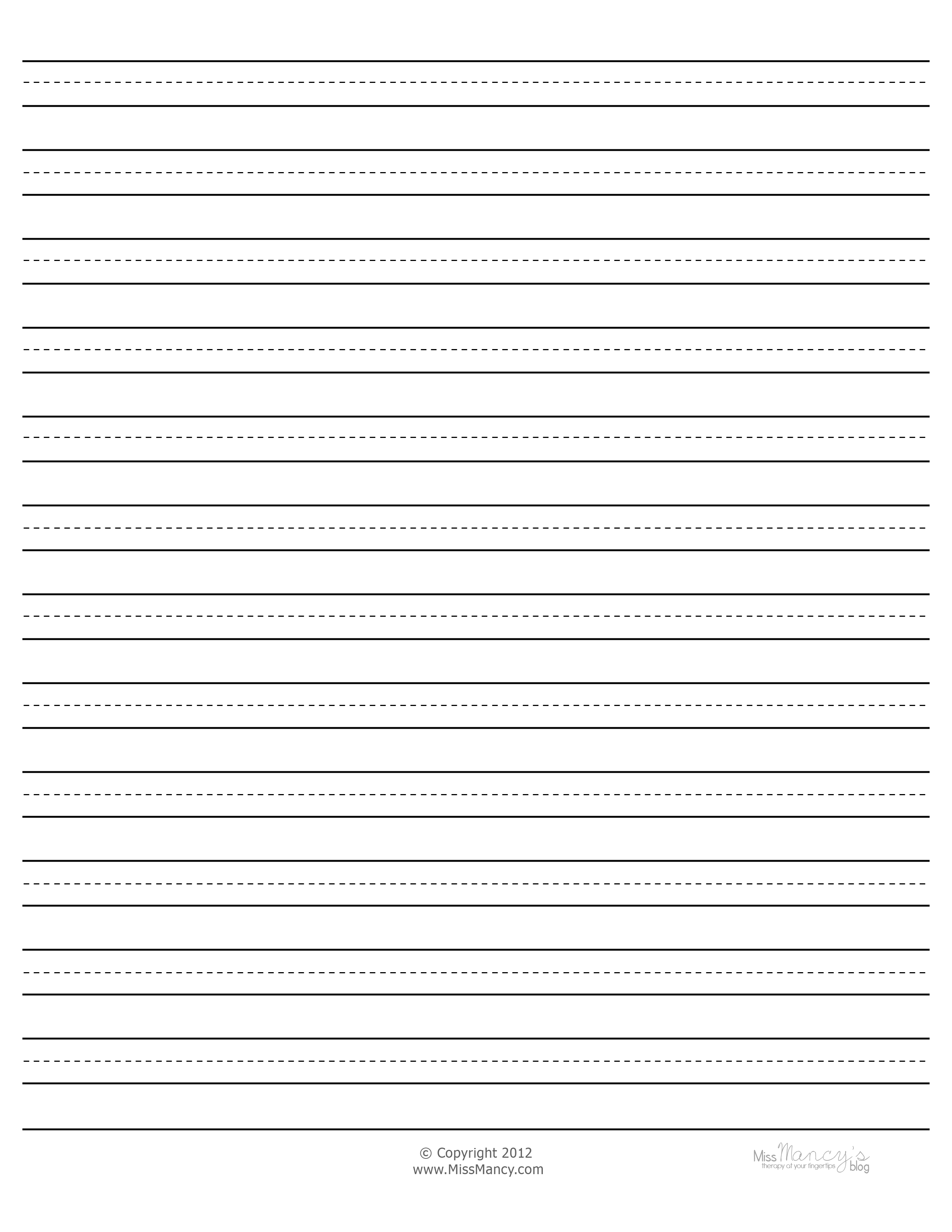 Paper With Thick Lines Dashes In Between
