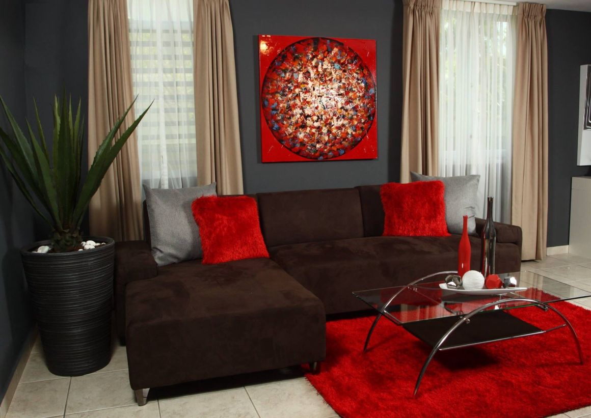 red decoration for living room. love it. | home decor | pinterest
