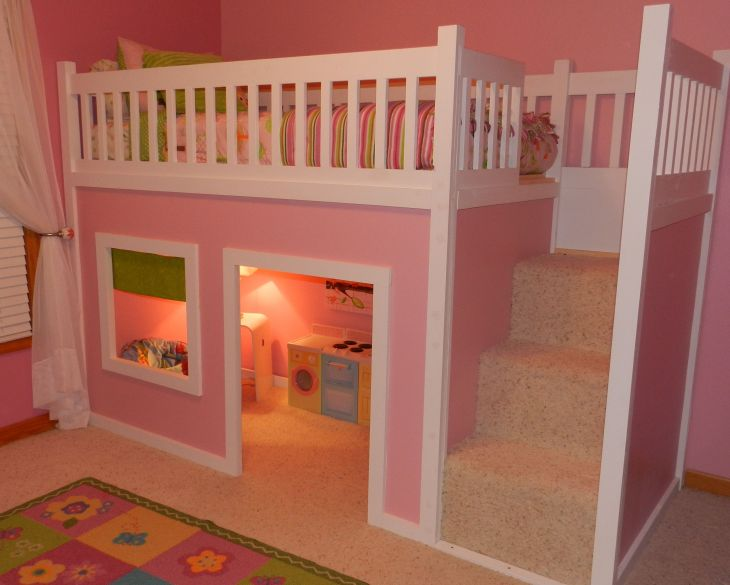 Girls room  FREE instructionsplans on how to build a loft