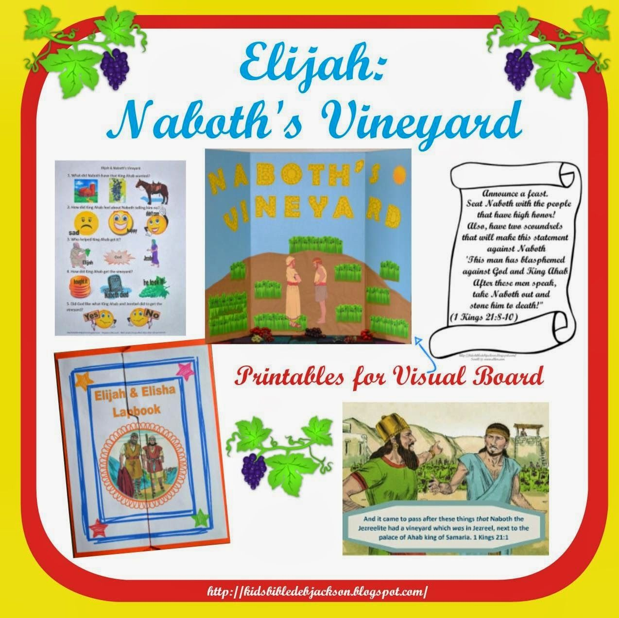 Elijah Amp Naboth S Vineyard With Printables For A Science