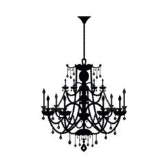 L And Stick Wall Decal Rhinestone Chandelier Target 11 69