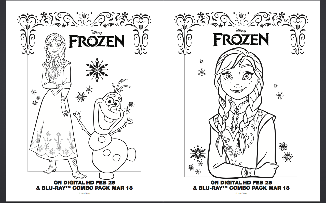 Free Frozen Coloring Pages Anna Elsa And Olaf Sheet Pencil