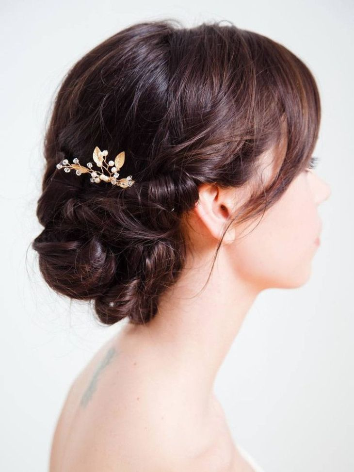 Iverness hairpin Wedding hair accessories Gold weddings and Hair