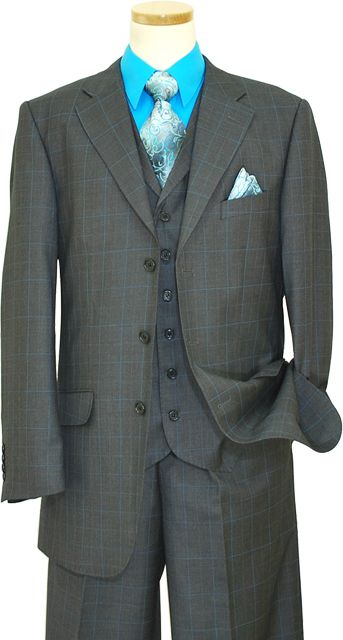 Charcoal Gray And Turquoise Tux For New Husband Maybe With A Different Color Shirttie One