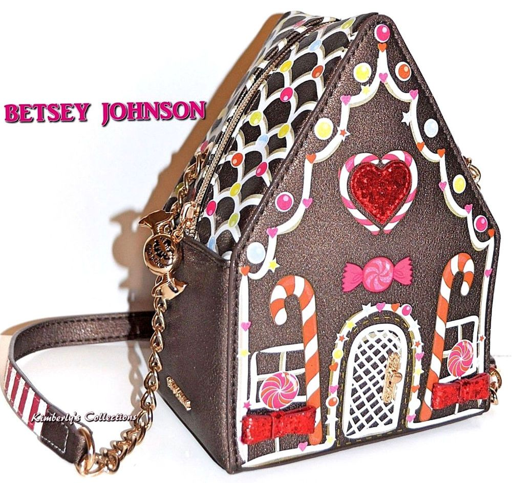 Best Kitchen Gallery: Betsey Johnson Home Sweet Home Gingerbread House  Crossbody Purse Bag Of Designer