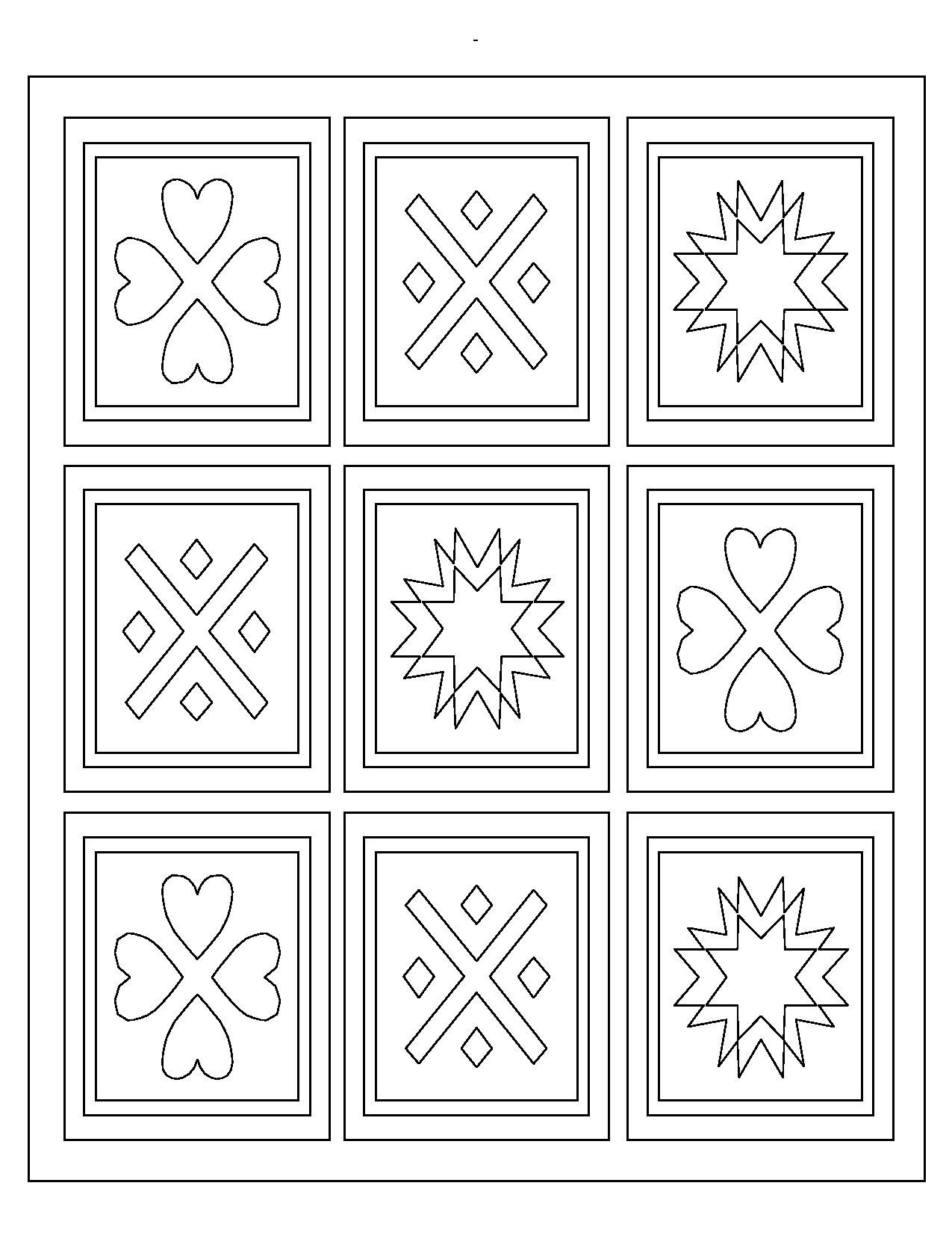 Pattern Coloring Pages For Preschoolers Coloring Page