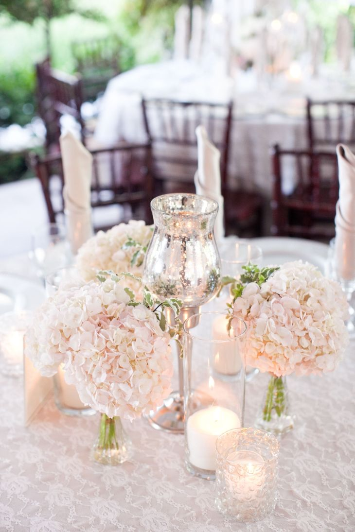 Classic White Wedding with DIY Details Moon Wedding and Centerpieces