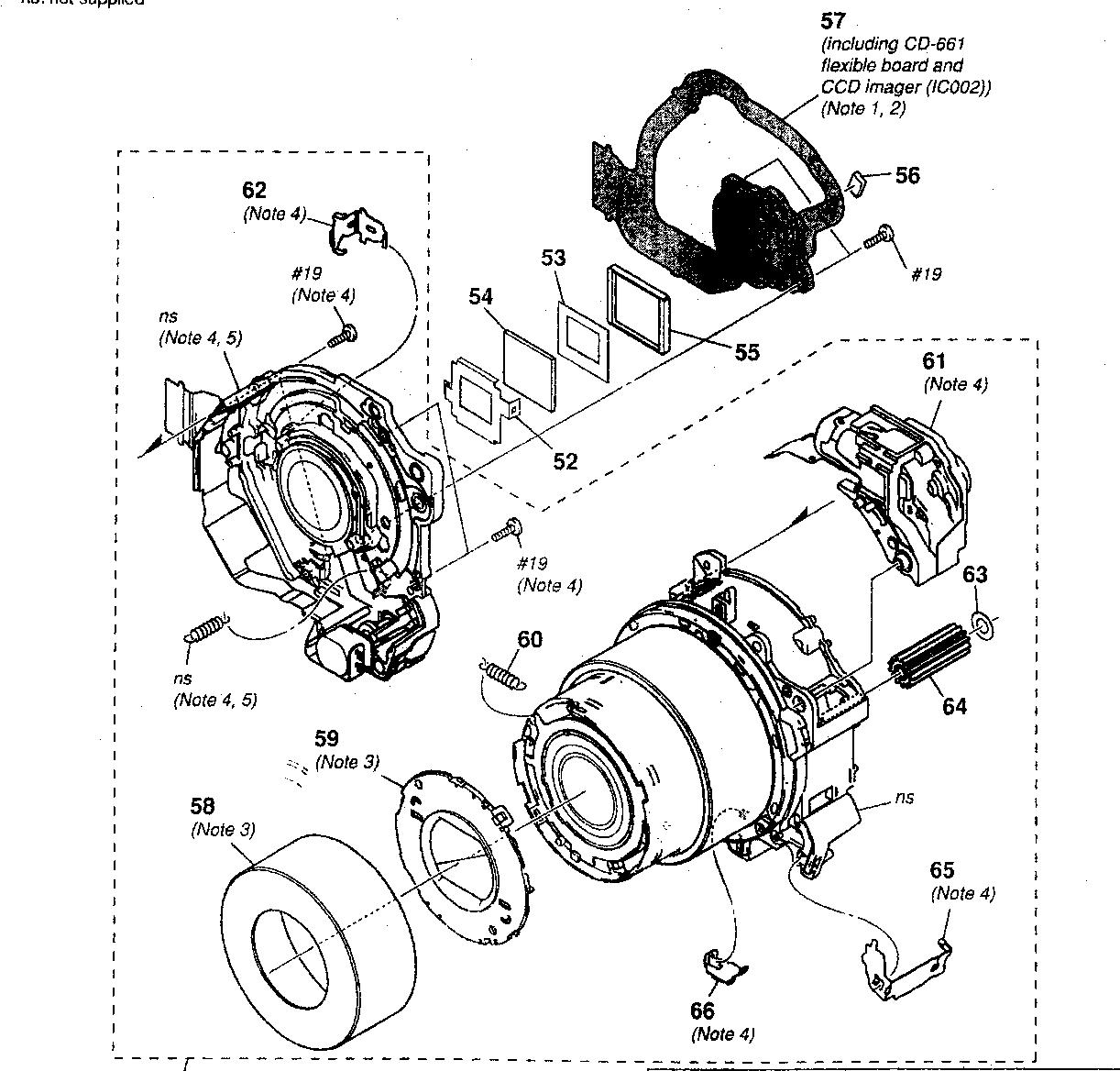 Lens Block Diagram Amp Parts List For Model Dscn2 Sony Parts