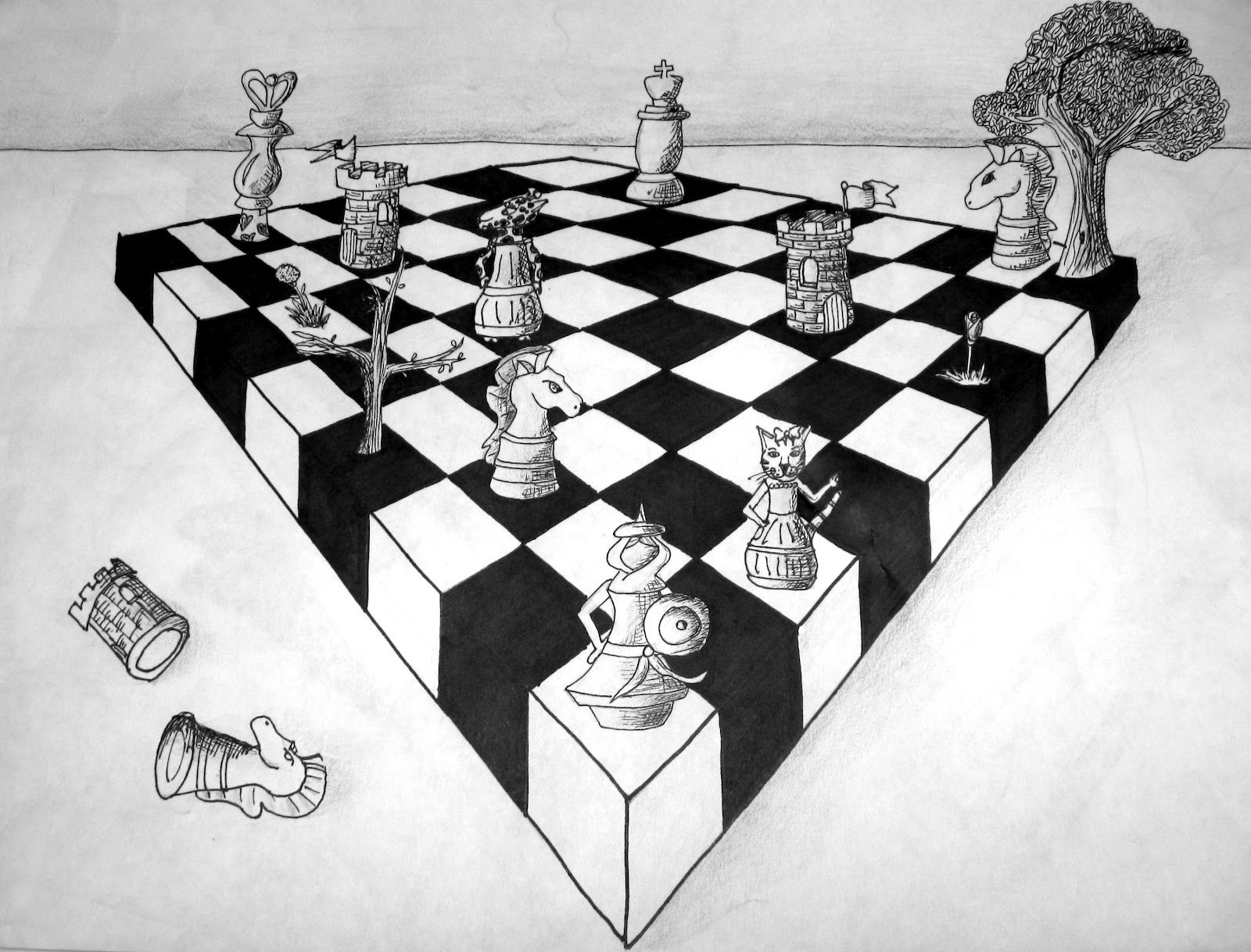 2 Pt Perspective Chessboard