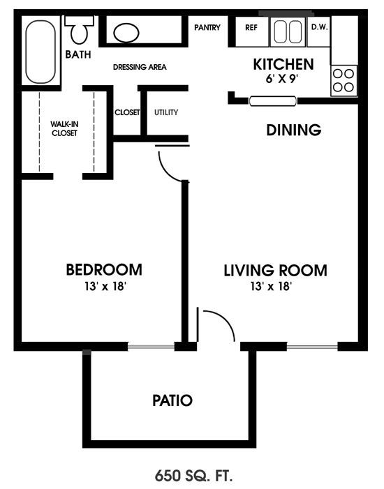 image result for tiny 1 bedroom floor plans | barn plans