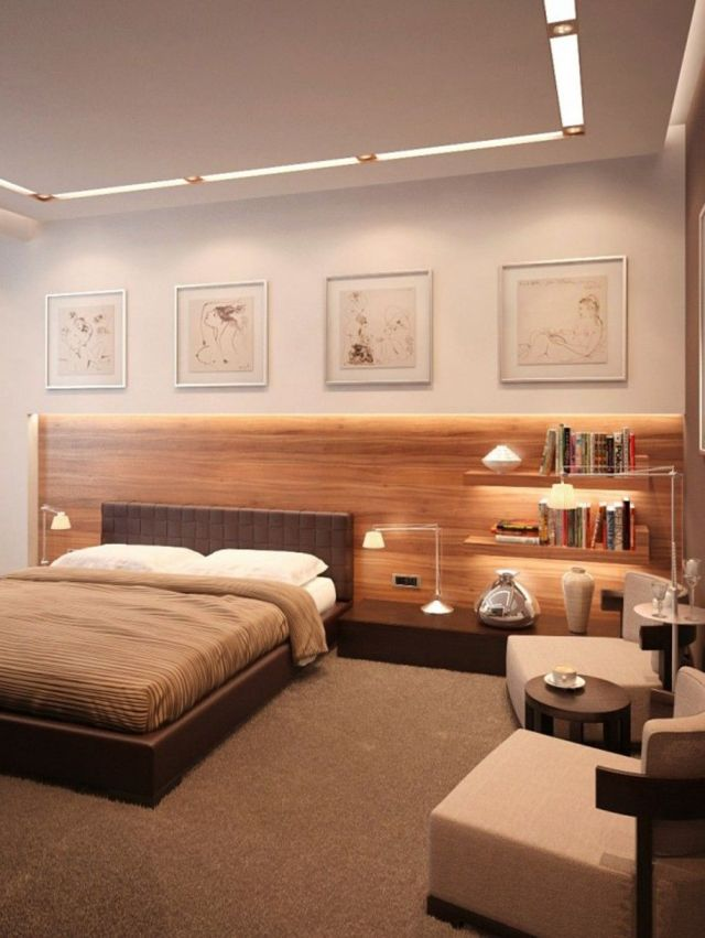 Bedroom Paint Ideas for Couples in White Wall and Wooden ...