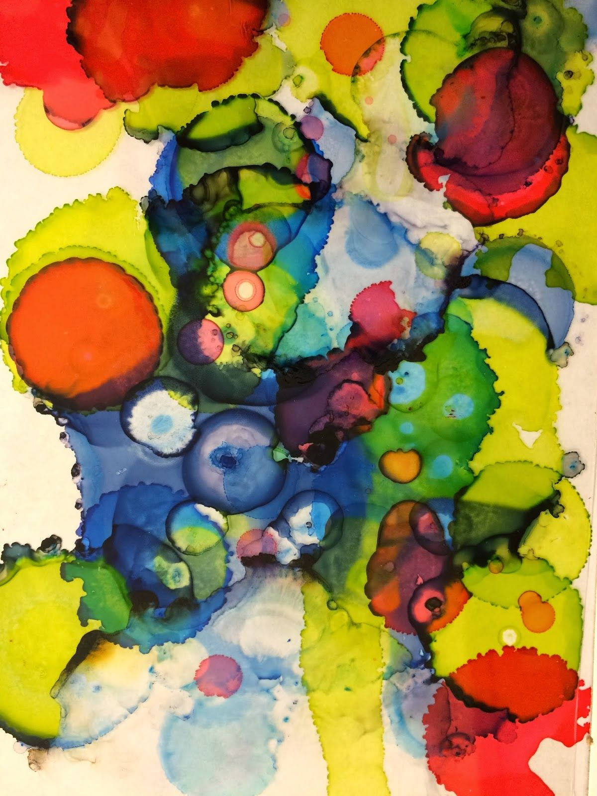 Abstract Art Transparencies With Alcohol Ink