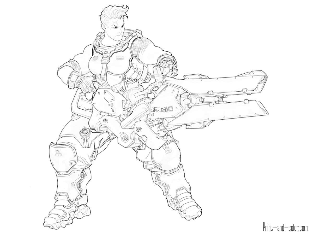 Overwatch Coloring Pages Coloring Pages