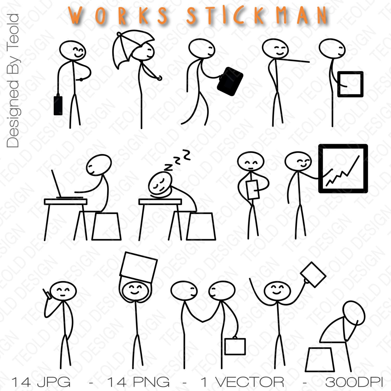 Stick Figure Clipart Clip Art Stick Business Businessman