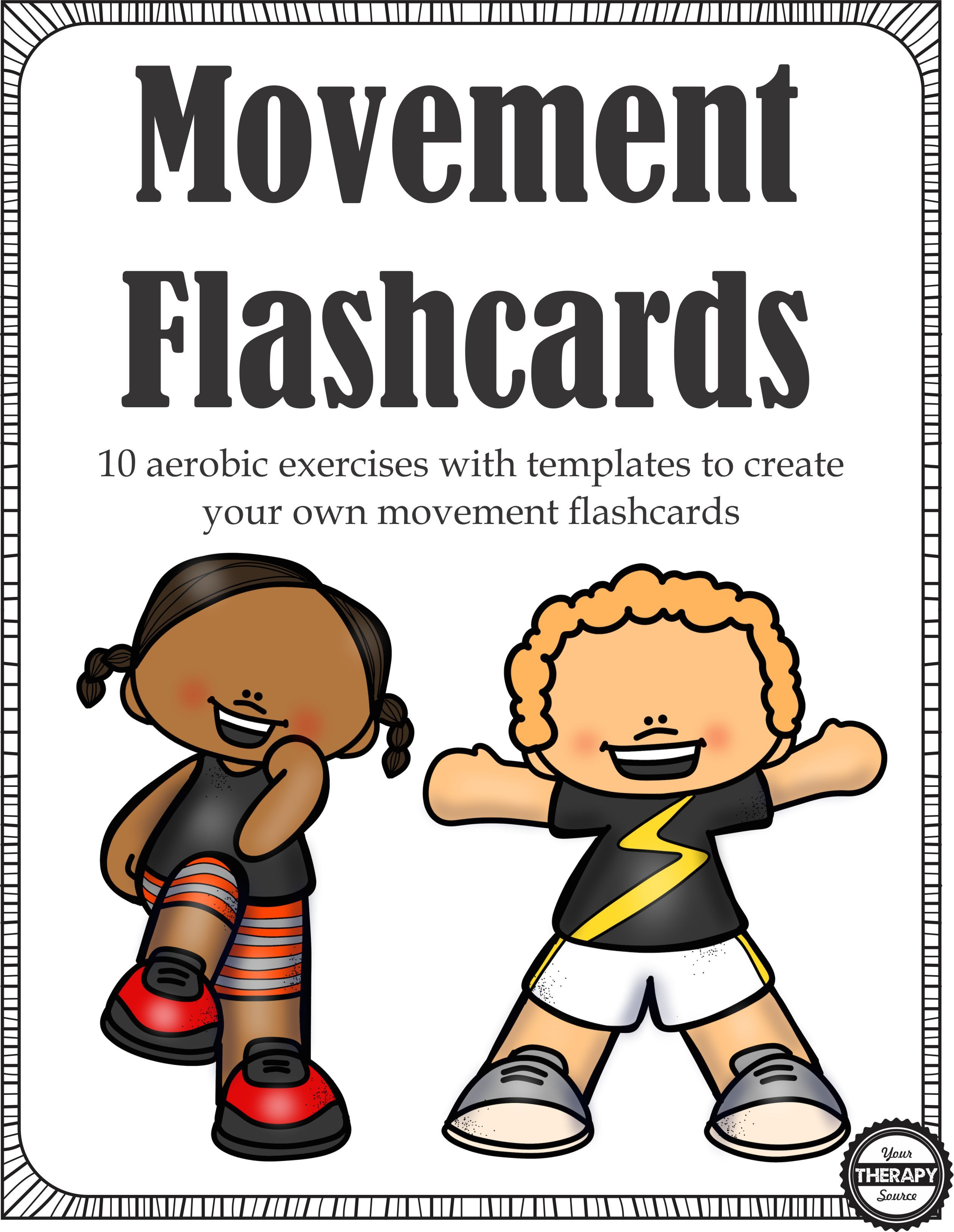 Movement Flashcards Digital Download Includes 10 Aerobic