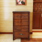 Wooden cabinet brown with drawers global fusion bedroom