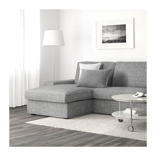 KIVIK Canap 3 Placesmridienne Isunda Gris IKEA