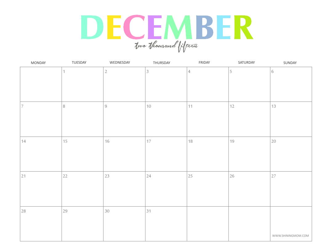 December Calendar Free 816
